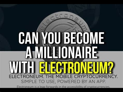 Can You Become A Millionaire With An Mba by Electroneum Crypto Currency Ico Launch Review Price Can