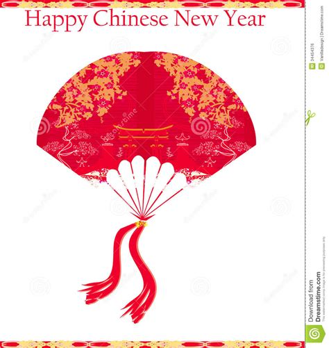 design free new year card decorative chinese landscape happy chinese new year card