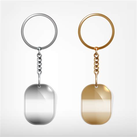 card template key chain shining keychain template vectors 04 vector other free