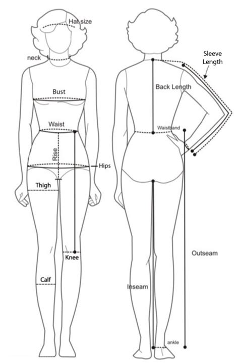 diagram of measure how to take measurements on measurement chart hip bones and bodies
