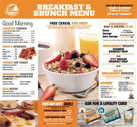new breakfast brunch menu seafarers takeaway