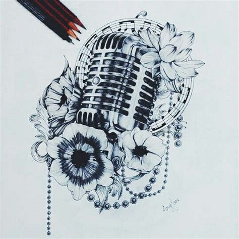 small microphone tattoo designs microphone just because i singing and