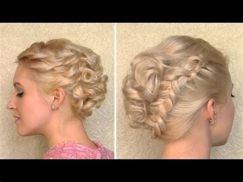 youtube tutorial updo curly wedding updo prom hairstyle for medium long and