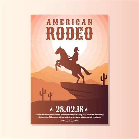 Wild West With Cowboy Rodeo Show Flyer Templates Download Free Vector Art Stock Graphics Images West Poster Template