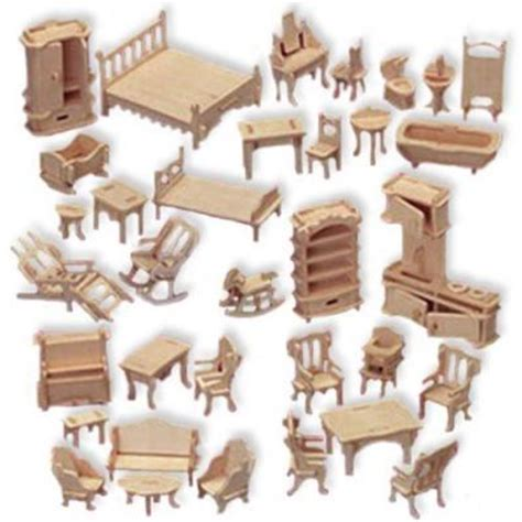 wooden dolls house furniture set wooden furniture set wooden furniture set for miniature house models