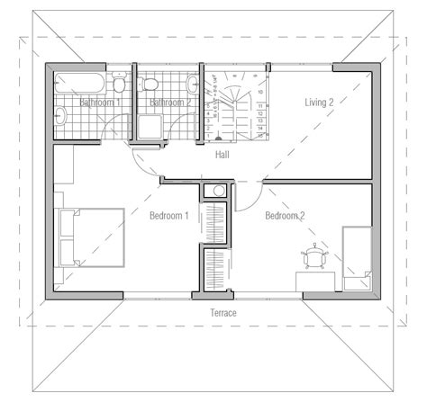 Affordable Floor Plans by Affordable House Plan With Two Bedrooms Three Bedrooms
