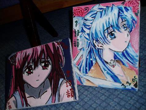 acrylic painting anime acrylic anime painting by sinfear on deviantart