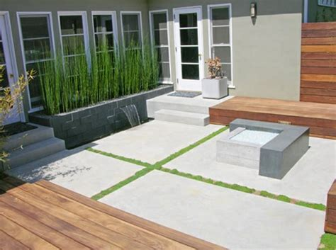 Modern Concrete Patio Designs Small Yard Landscapes Landscaping Network