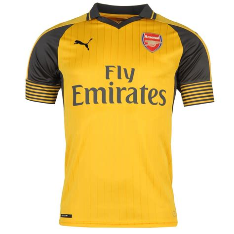 arsenal yellow jersey puma arsenal fc away jersey 2016 2017 mens yellow football