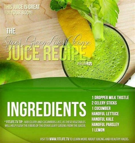 Juice Recipe Detox Liver by Liver Detox Cleanse Detox