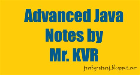 java tutorial kvr notes advanced java jee notes by kvr sir pdf download