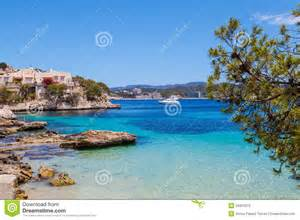 Mediterranean Beach House Plans cala fornells view in majorca stock photography image