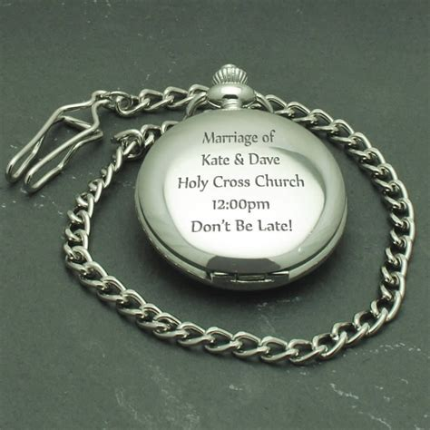 Personalised Pocket Watch, Engraved Watch Wedding Gift