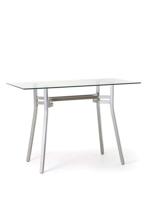 amisco glass dining table amisco matis rectangular pub table w glass top free