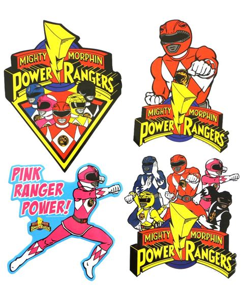 power rangers bathroom set power rangers sticker set from shop jeen accessoriez