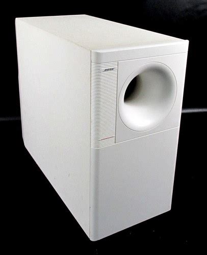 bose acoustimass  home theater speaker system white
