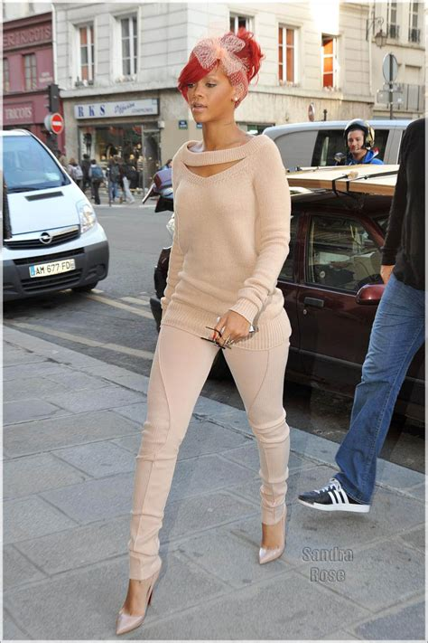 celebrity style rihanna celeb style rihanna in altuzarra sweater and