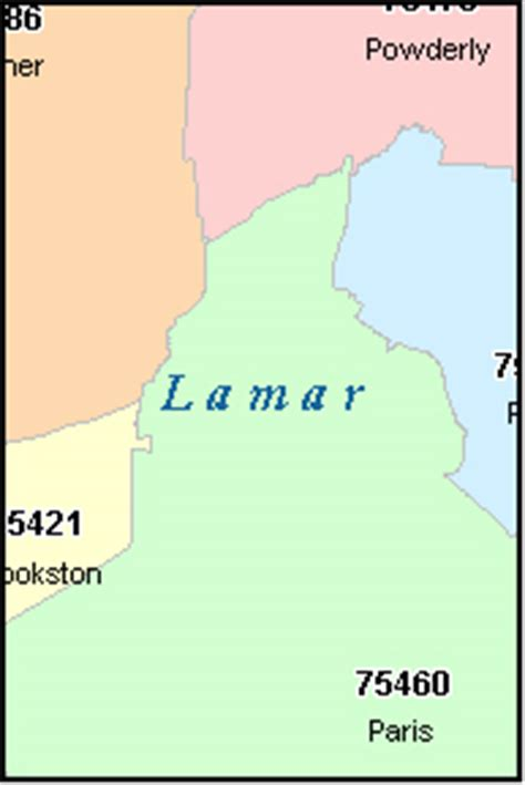 lamar texas map lamar county texas digital zip code map