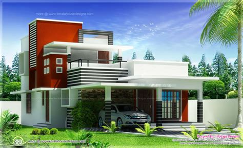 home design business 3 bed room contemporary style house kerala home design