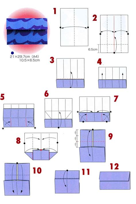Origami Envelope Diagram - origami envelopes 4 types