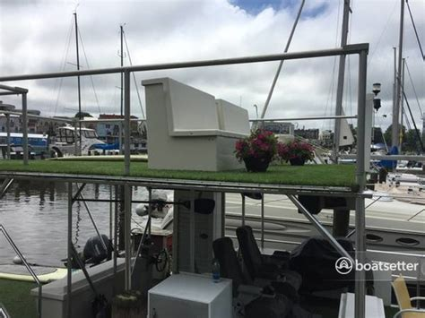 pontoon boats rental chicago rent a 17x40 custom 5 pontoon deck boat in chicago il on