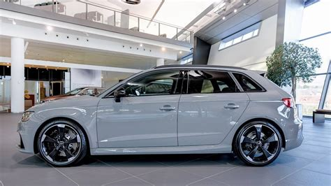 nardo grey rs3 nardo gray rs3 sportback by audi exclusive on display at