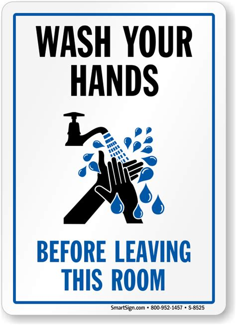 bathroom signs wash your hands wash your hands before leaving this room sign with graphic