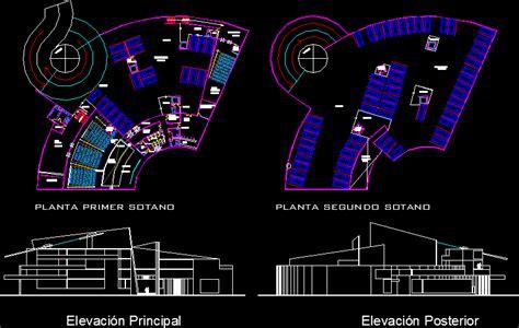 cultural learning center chongon ecuador dwg plan
