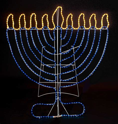 hanukkah indoor outdoor rope light decoration 4 tall