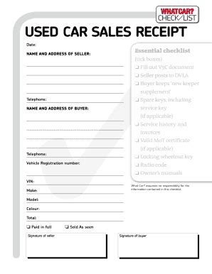 fillable sales receipt template used car sales receipt fill printable fillable