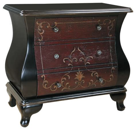 accent tables and chests hand painted distressed espresso finish bombay accent