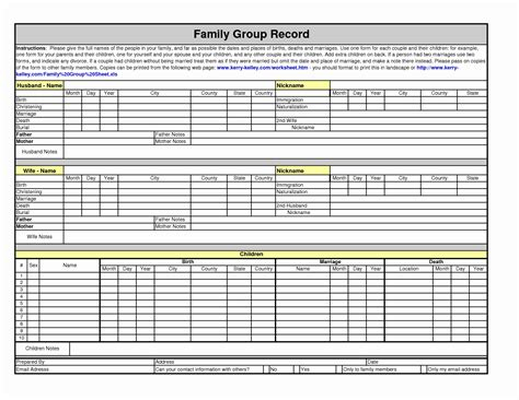 Family Will Template by Free Templates 2018 187 Family Sheet Template Free