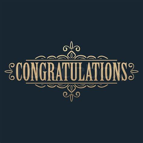 Congratulations Card Design Templates by Calligraphic Design Element Golden Congratulations Card