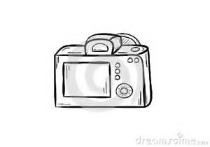 camera back side stock vector image 38956801