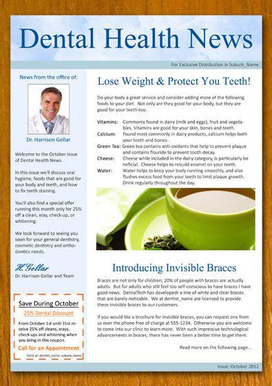 Free Sle Dentist And Dental Newsletter Template Template Open Office Newsletter Templates