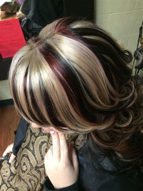 chunky blonde top dark under 3126 best images about hair and such on pinterest chunky