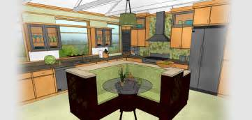 Free Kitchen And Bath Design Software Technical Drawing Of A Kitchen Generated By Home Designer