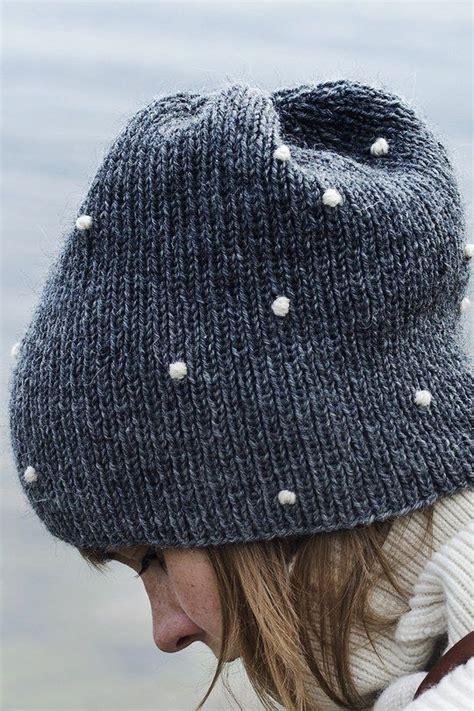 knitting beanie an knit beanie lumipallo snowball from yarn novita