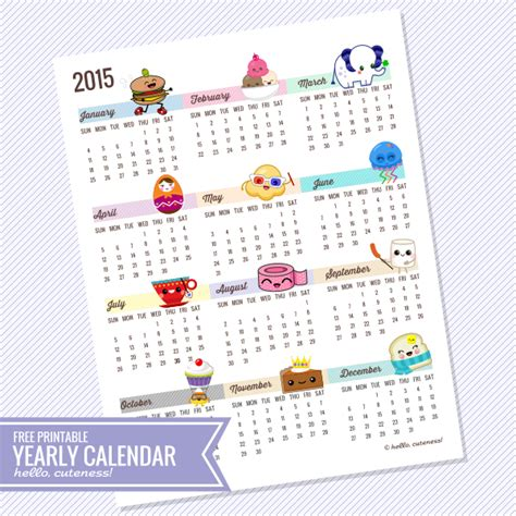 printable year at a glance calendar 2015 2015 year at a glance new calendar template site