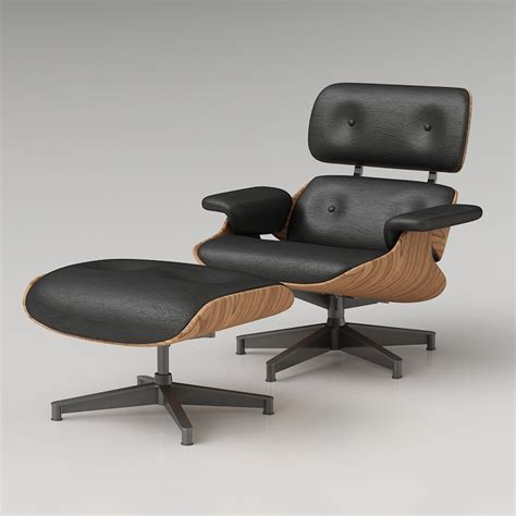 eames lounge chair and ottoman 3d eames lounge chair high quality 3d models