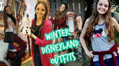 winter disneyland outfits ootw thekelliworldtv youtube