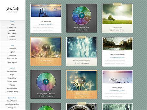 tumblr themes notebook notebook wordpress theme
