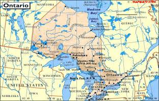 detailed map of ontario canada canada provincial map of ontario