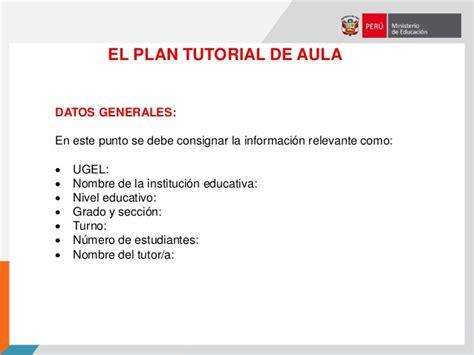 plan de tutoria de inicial 2016 plan de tutor 205 a del aula