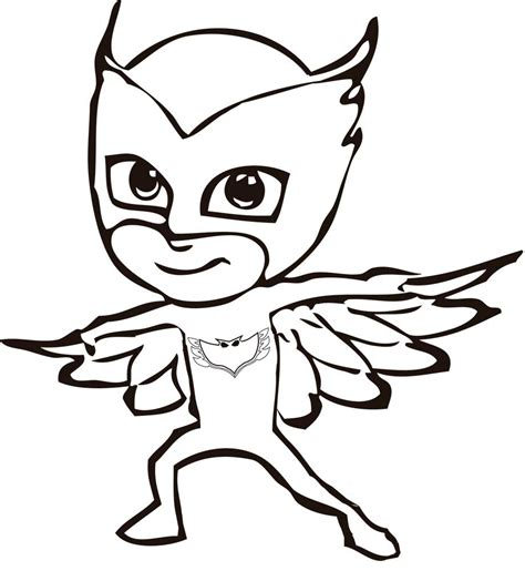 Owlette Pj Masks Coloring Coloring Pages Pj Masks Catboy Coloring Pages Free