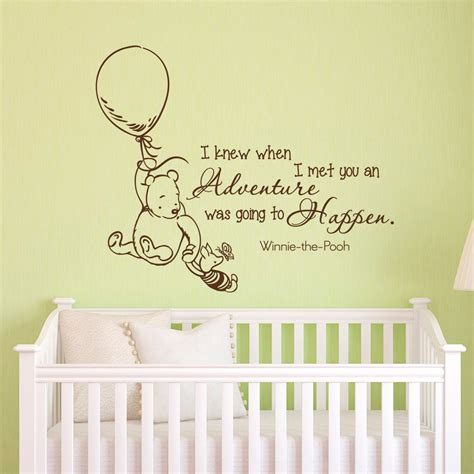 Classic Winnie The Pooh Wall Decals For Nursery Wall Decals Quotes Classic Winnie The Pooh I Knew By Fabwalldecals