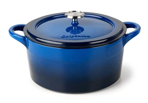 Tamahagane Kitchen Knives by Calphalon Enamel Cast Iron Round Dutch Oven 7 Quart Blue