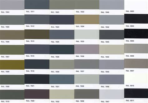 Ral color chart collection of ral grau farbkarte and decorating tips