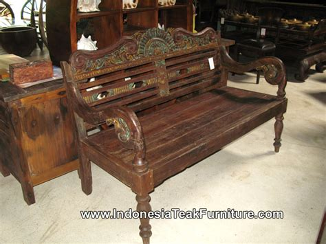 reclaimed teak wood bench furniture indonesia