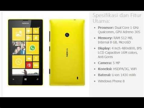 Hp Nokia Lumia 520 Second harga hp nokia lumia 520